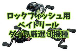 Daiwa(ダイワ)から選ぶロックフィッシュに最適なベイトリールおすすめ厳選3機種