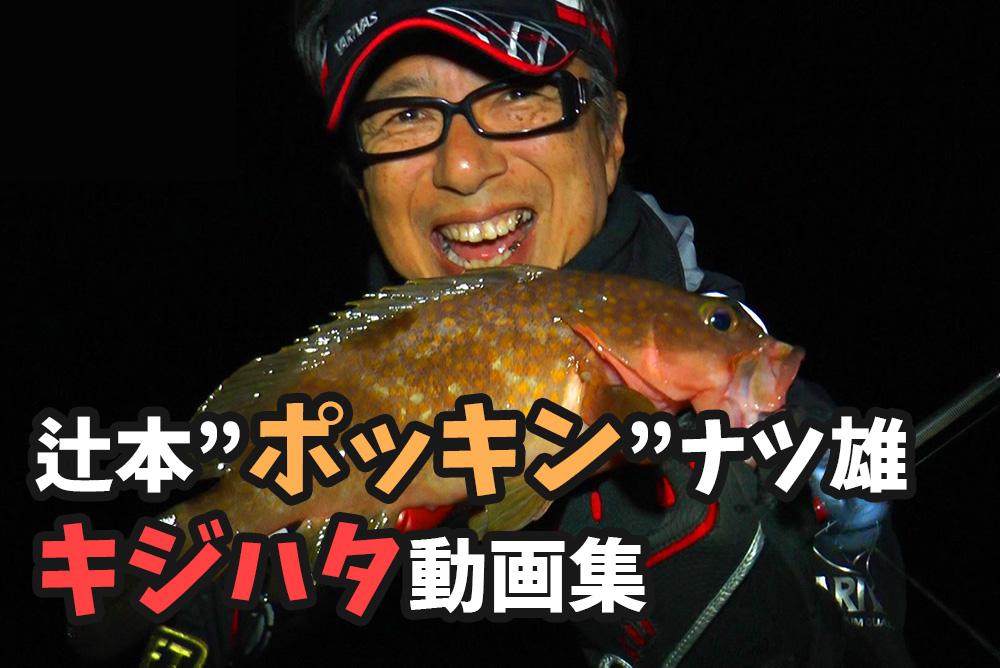 ロックフィッシュ界の重鎮!!ポッキンこと辻本ナツ雄のキジハタ(アコウ)動画集